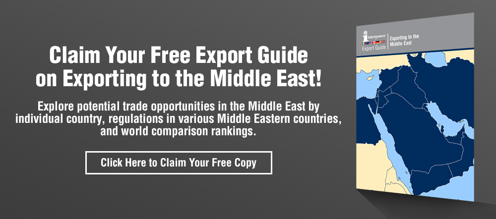 For more information on export regulations in the Middle East, claim your free guide.