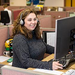 Interpower customer service representative smiling